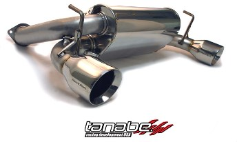 The Tanabe Medalion exhaust for the 350Z features 93db sound levels for a quiet drive.