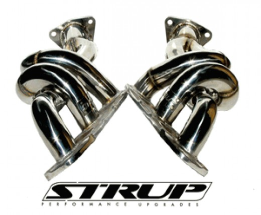 Strup Headers are fully tig welded, and feature big 1 5/8 inch tubes for big power.