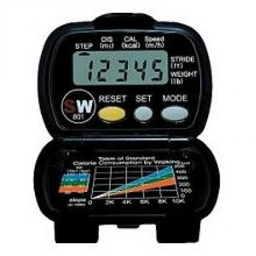 Track your steps with a pedometer.  They are relatively inexpensive and can be purchased at stores such as Target.