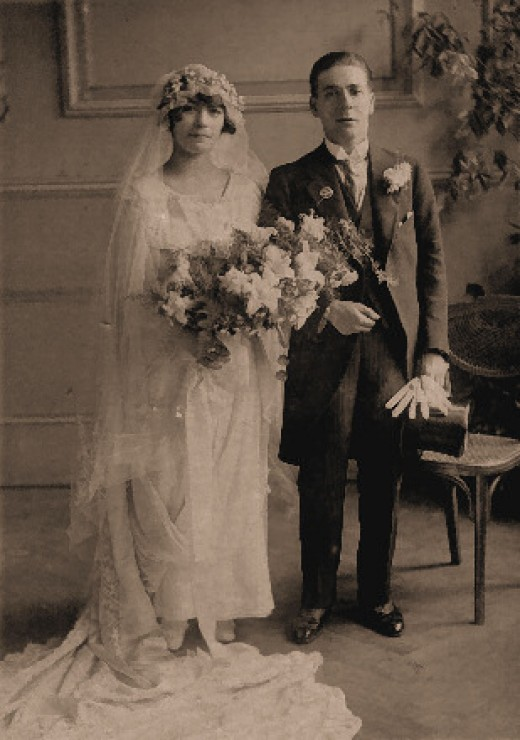 My grandparents on their wedding day, circa 1910