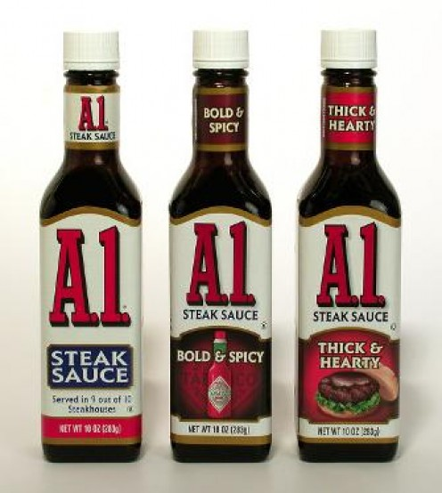 A1 offers several varieties of sauce or choose your personal favorite of any brand!
