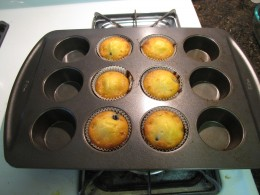 6 of these delicious gluten-free muffins were already missing by the time I took the picture.