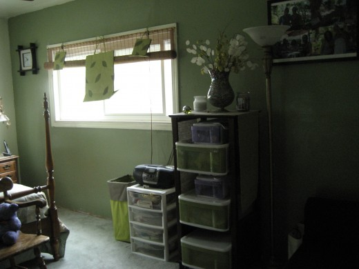 second bedroom upstairs, (formerly girls room)