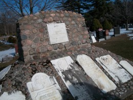 The Pioneer Memorial Cairn, at Pickering, Ontario