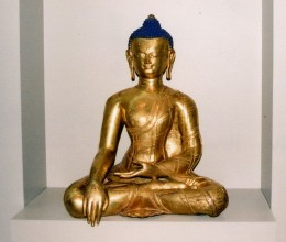 Copper statue of Buddha, Tibet, 14th century