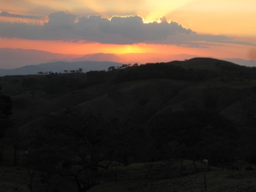 Sunset in the Hills of Miramar, Costa Rica
