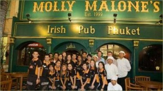 Photo Taken At Molly Malone's Grand Opening In Patong Beach In 1999