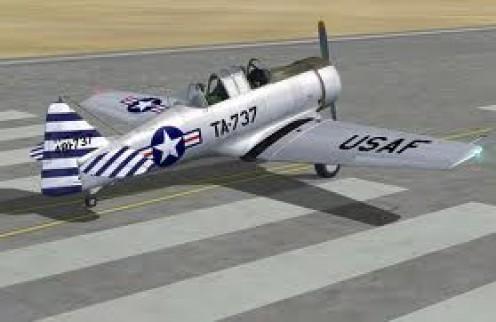 T-6 Texan. Popular World War 2 U.S. A. Plane.