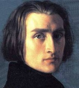 Franz Liszt. Women fought to possess even his glove.