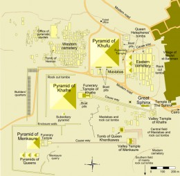 Map of the Funerary Complexes