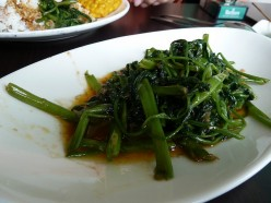 Quick and Easy Indonesian Tumis Kangkung - Morning Glory Stir Fried Recipe