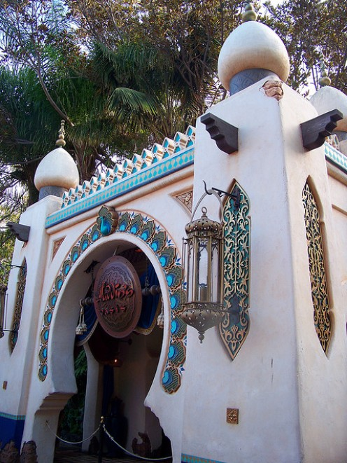 The opulent exterior of Aladdin's Oasis. CC lic: http://bit.ly/wmgij