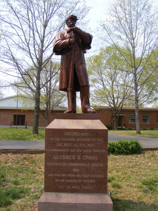 Statue in Ironton, MO. where Col. Ulysses S. Grant was promoted to Brigadier General in 1861