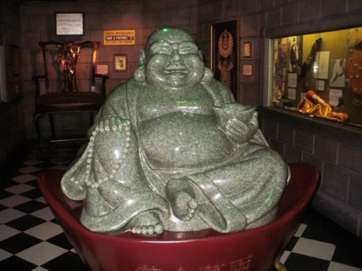 Looking for some good luck? This laughing Buddha statue is made from over 3 million macerated US dollars.  Rubbing its belly is supposed to bring you good luck!