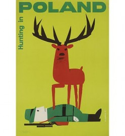 free cross stitch charge vintage travel poster Poland