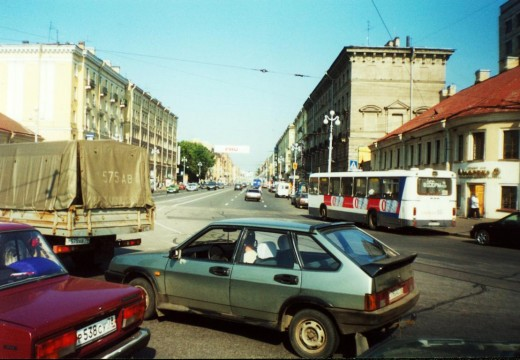 Nevssky Prospect, one of the main thoroughfares  in St. Petersburg, Russia