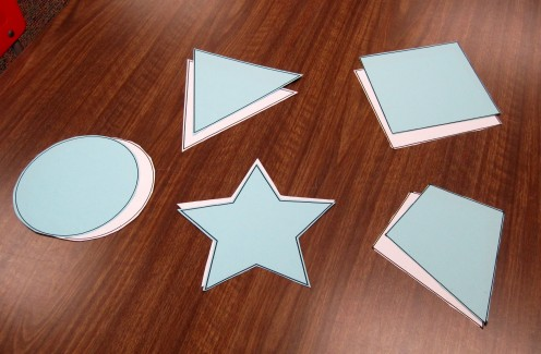 Shape templates cut out.