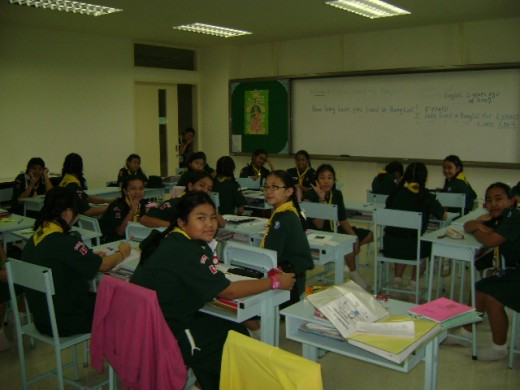 These are my 6th grade English students at Saint Joseph Bangna School in Samut Prakarn, Thailand.  Photo was taken in 2009.