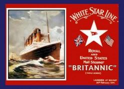 free cross stitch Britannic liner poster