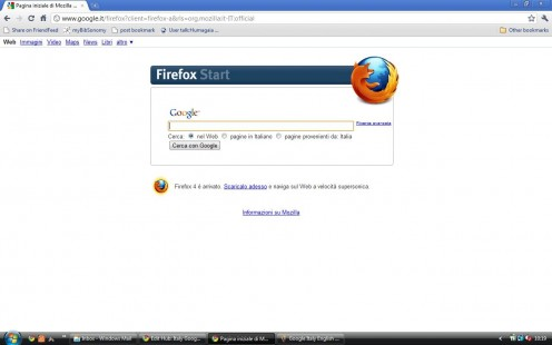 Google IT (Firefox version) in Italian