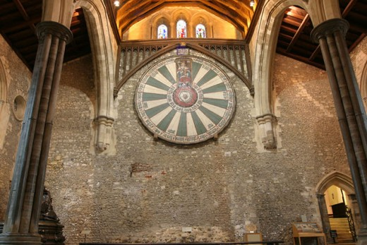 Round table in the Great Hall, Winchester, England