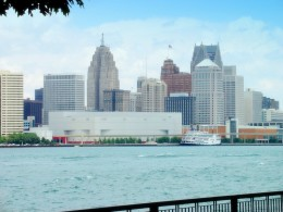The Detroit Skyline from Windsor, Ontario