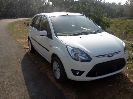My neighbor's new Ford Figo in white color