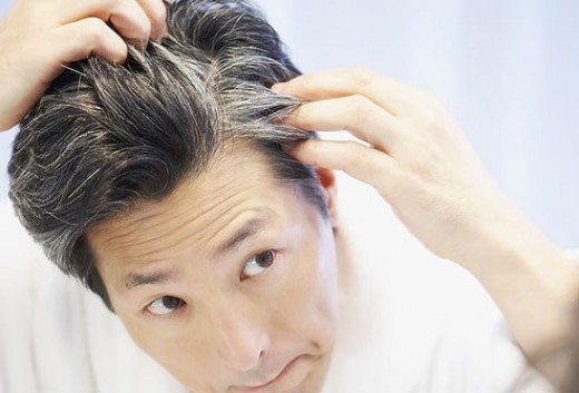 Natural remedy for graying hair
