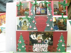 Ideas for Scrapbooking Layouts-A Cricut Christmas Theme