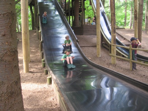 The two best slides at Bewilderwood, according to a ten year old