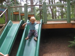 Slides in the young children's area