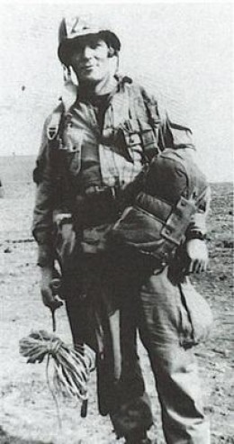 Richard Winters in his paratrooper gear.