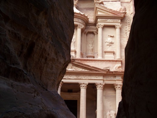 The Treasury, one of the many wonders of Petra, Jordan