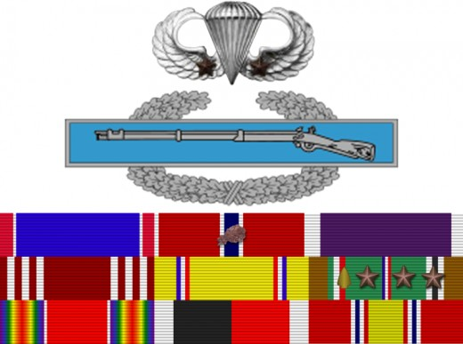 The Ribbons of Major RIchard Winters.