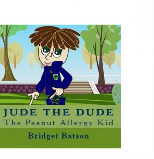 Jude the Dude Children's Peanut Allergy Book http://www.amazon.com/Jude-Dude-Peanut-Allergy-Kid/dp/0981623506/ref=sr_1_1?s=books&ie=UTF8&qid=1302881996&sr=1-1