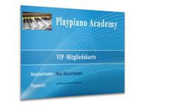 Klavier lernen mit aktuellen Songs in der online Playpiano Academy