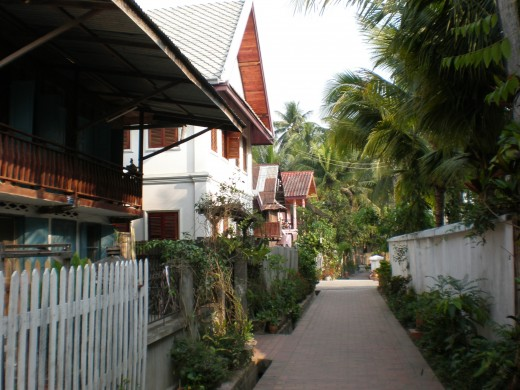 Streets of Luang Prabang's Old Quarter.