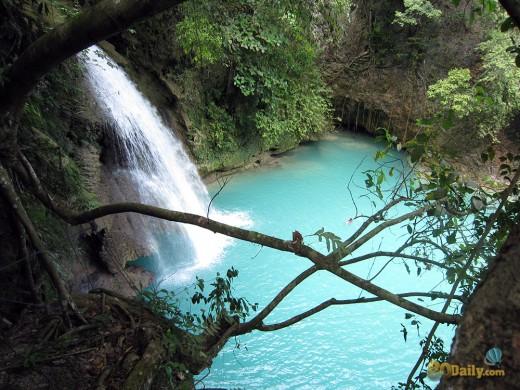 2nd level of Kawasan Waterfalls on Cebu Island