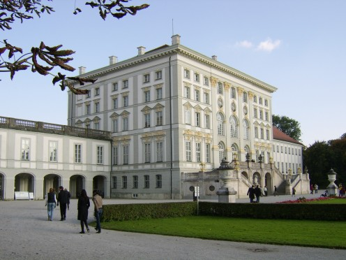 The original main house, now but one part of Nymphenburg Palace, seen from the rear (West)