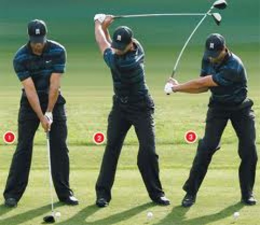 Tiger's down swing sequence.