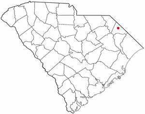 Map location of Dillon, SC