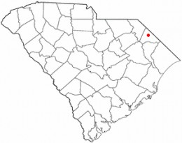Map location of Dillon, SC