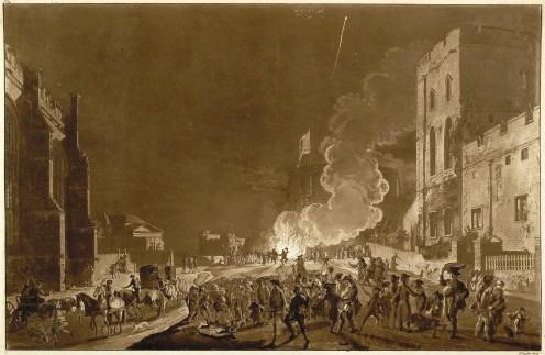 Published September 1776. See: http://en.wikipedia.org/wiki/File:Windsor_castle_guyfawkesnight1776.jpg