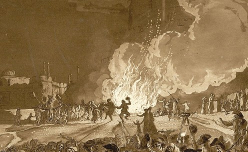 Published September 1776. See: http://en.wikipedia.org/wiki/File:Windsor_castle_guyfawkesnight1776.jpg