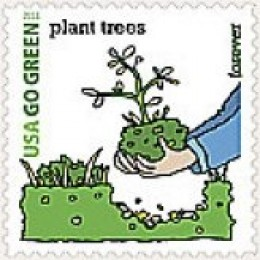 USPS Go Green Stamps in honor of Earth Day