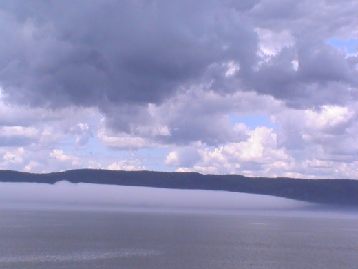 The fog at Trois Rivieres, Quebec, Canada (Photo by Travel Man, May 6,  2009)