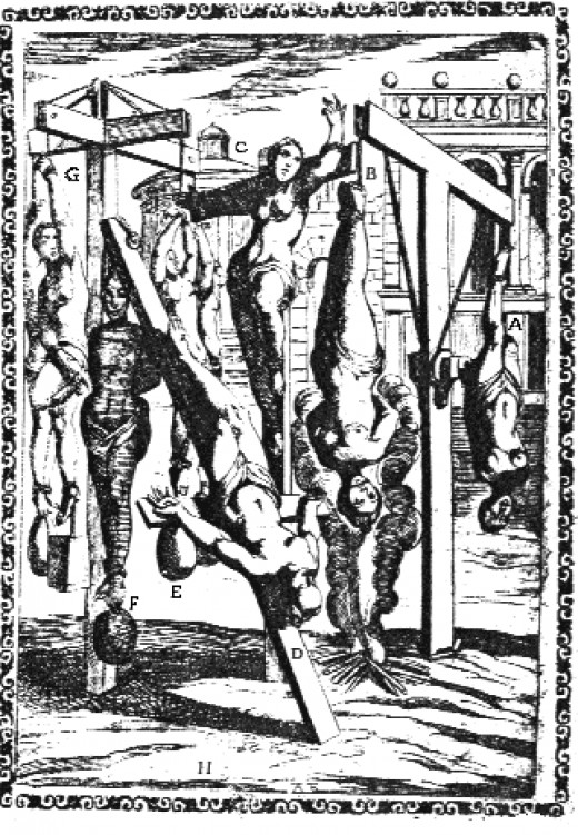 Early wood cut depicting Christians being Martyred for their faith.