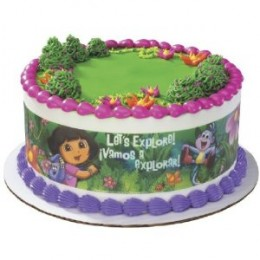 Dora  Explorer Birthday Cakes on Dora The Explorer Birthday Cakes And Party Supplies