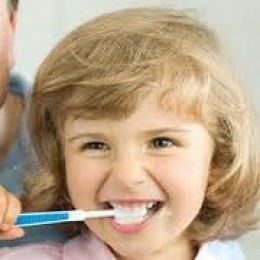 healthy brushing habits in childhood carry over to adulthood.