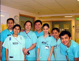 Filipino nurses of the Neurosciences Critical Care Unit of Addenbrookes Hospital in Cambridge, UK.